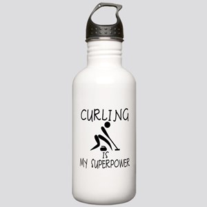 CURLING is My Superpower Stainless Water Bottle 1.